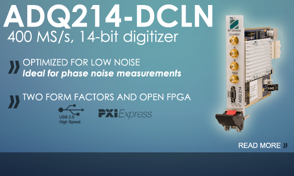 ADQ214-DCLN - High-speed low noise digitizer